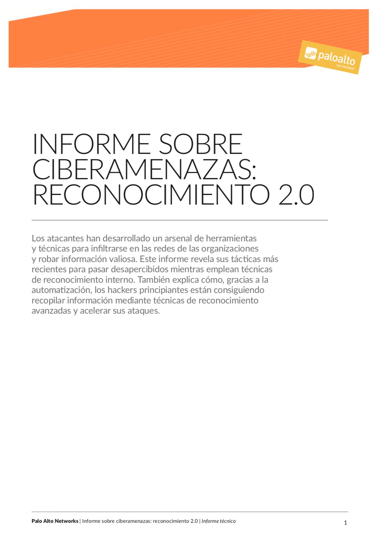 Informe sobre ciberamenazas: Reconocimiento 2.0