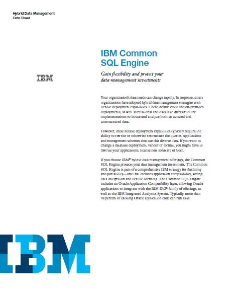 Motor SQL de IBM: Gane flexibilidad y proteja sus inversiones en gestión de datos