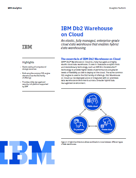 IBM Db2 Warehouse on Cloud: El almacén de datos en la nube híbrida
