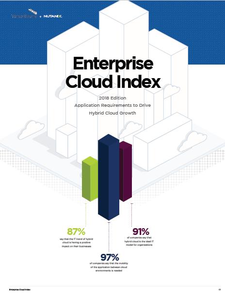 Enterprise Cloud Index: Edición 2018 – Requisitos de las aplicaciones para acelerar el crecimiento de la nube híbrida