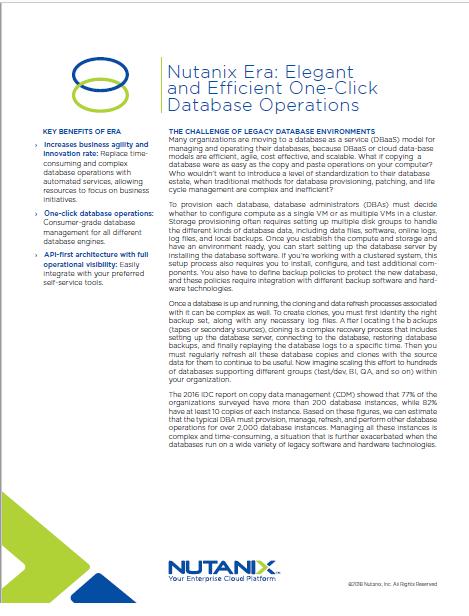 La Era Nutanix: Operaciones de Bases de datos eficientes en un solo click