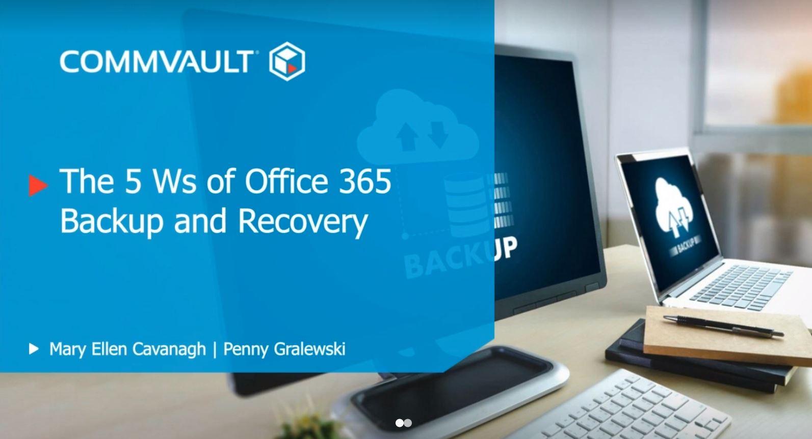 Las 5 Ws del Backup y Recovery para Microsoft Office 365
