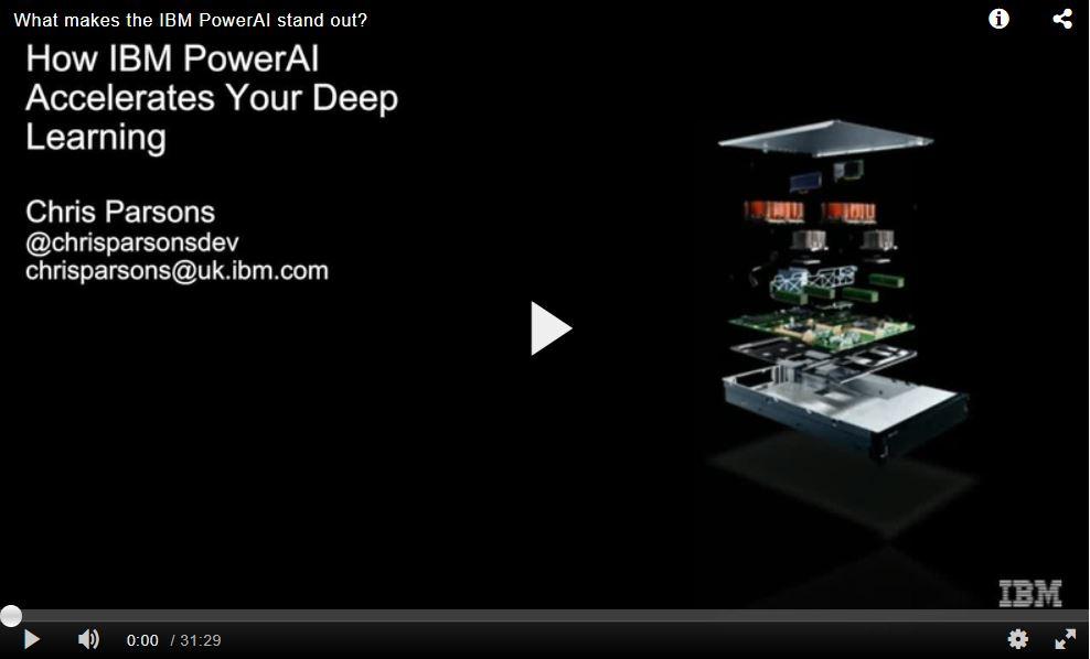 Webinar: Como IBM PowerAI acelera tu deep learning