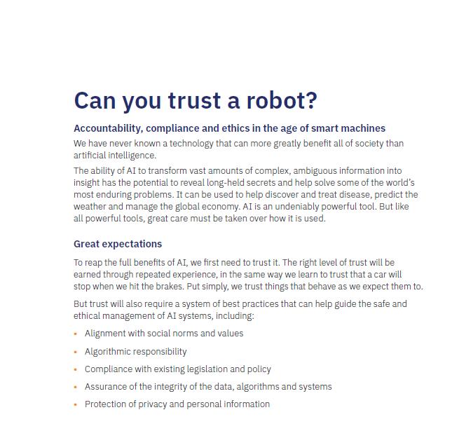 ¿Puedes confiar en un robot?