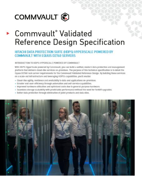 Especificación de diseño de referencia validada por Commvault