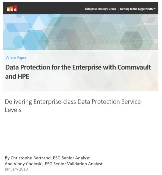 Protección de datos para empresas con Commvault y HPE