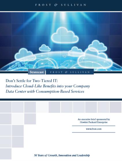 No se conforme con un TI de dos niveles: Introduzca beneficios similares a los de la nube en el centro de datos de su empresa con servicios basados en el consumo