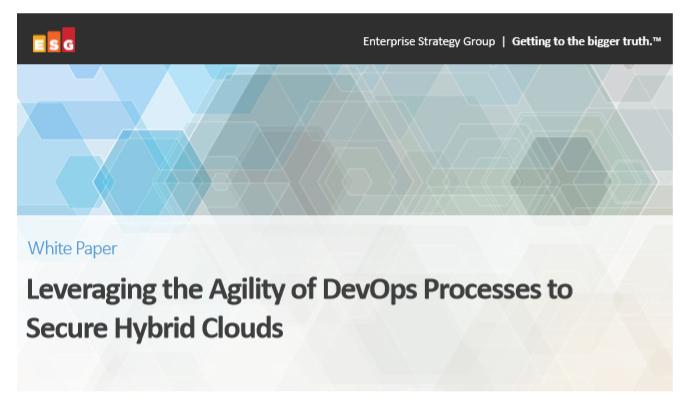 Aprovechar la agilidad de los procesos de DevOps para proteger las nubes híbridas