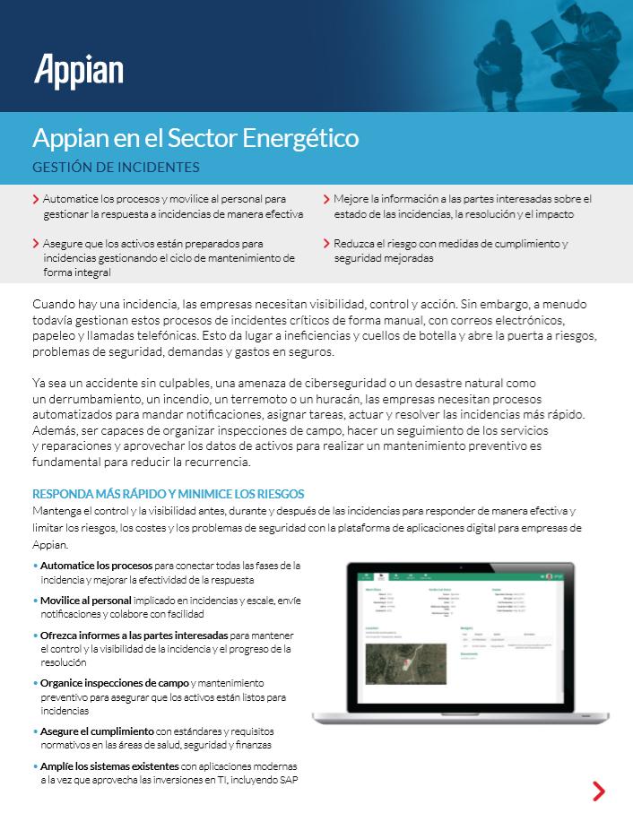 Appian en el Sector Energético: Gestión de incidentes
