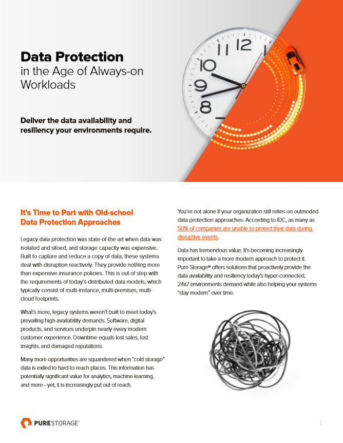 Protección de datos en la era de las cargas de trabajo siempre activas