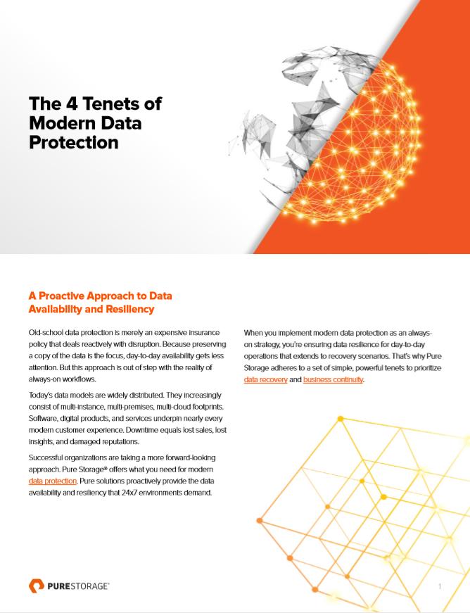 Los 4 principios de la protección de datos moderna