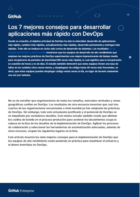Los 7 mejores consejos para desarrollar aplicaciones más rápido con DevOps