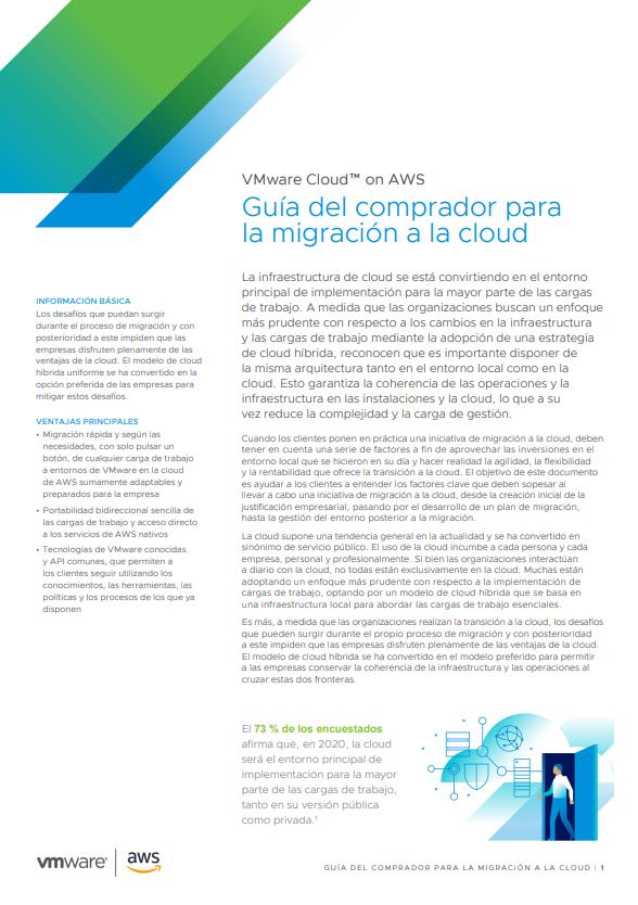 Guía del comprador para la migración a la cloud