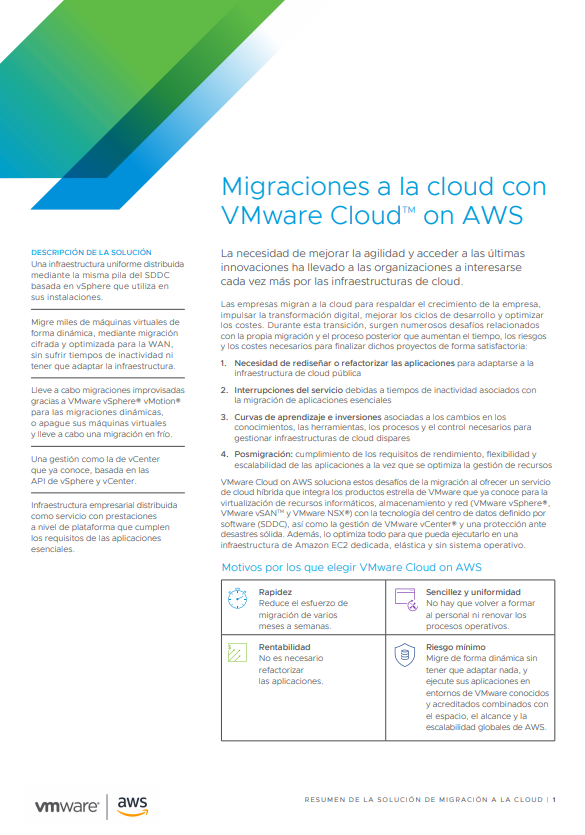 Migraciones a la cloud con VMware Cloud on AWS