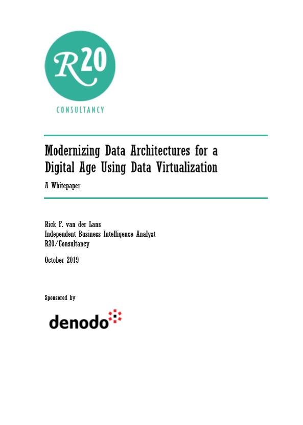 Modernización de las arquitecturas de datos para la era digital mediante la virtualización de datos