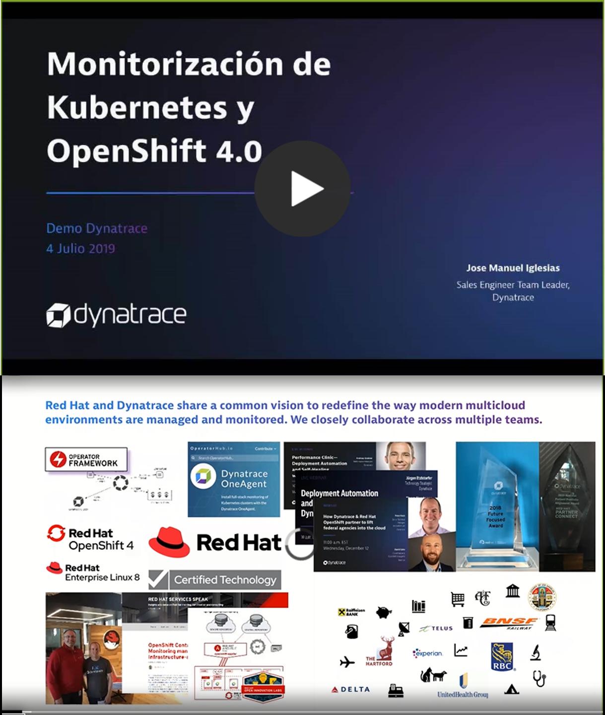Monitorización de Kubernetes y OpenShift 4.0