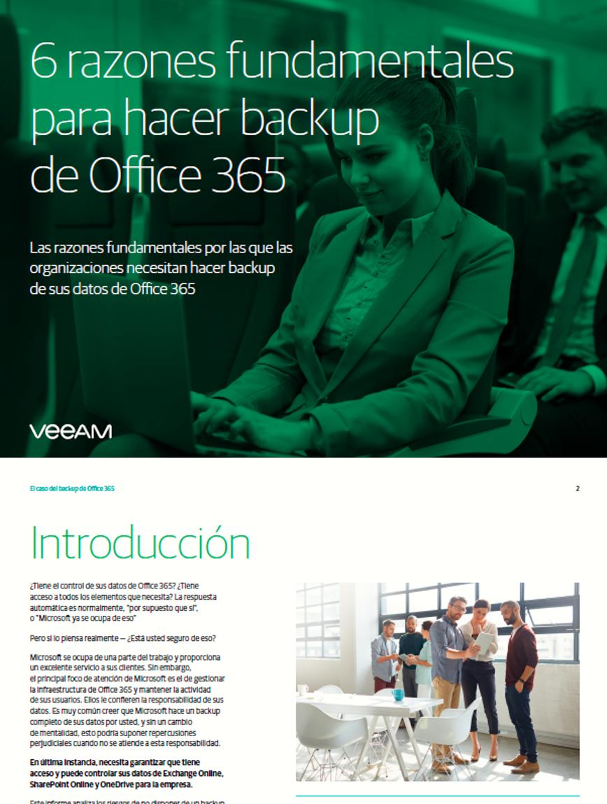 6 razones fundamentales para hacer backup de Office 365