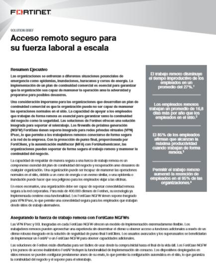 Acceso remoto seguro para  su fuerza laboral a escala
