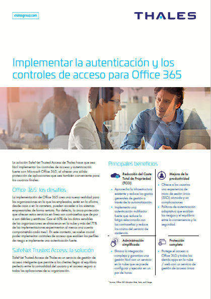 Implementar la autenticación y los controles de acceso para Office 365