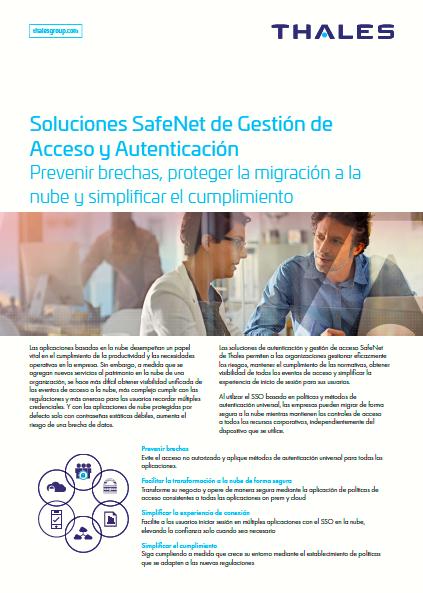 Soluciones SafeNet de Gestión de Acceso y Autenticación