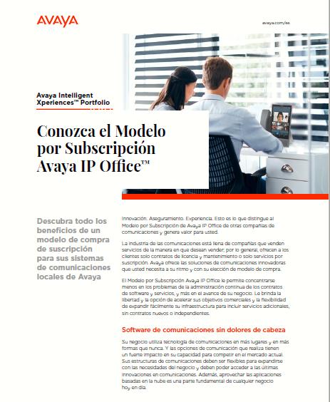 Conozca el Modelo por Subscripción Avaya IP Office™