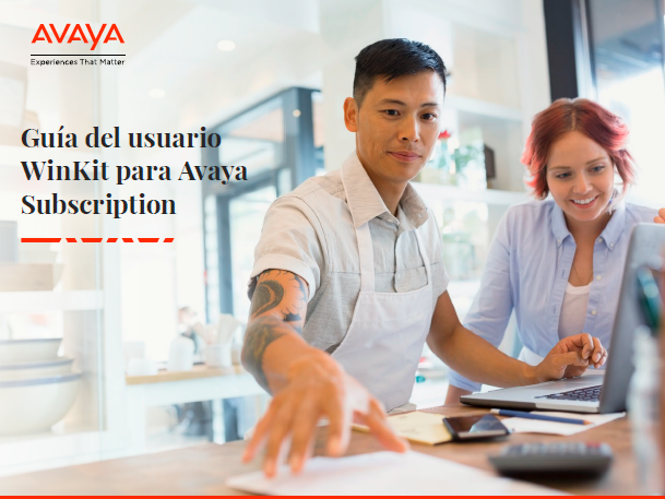 Guía del usuario WinKit para Avaya Subscription