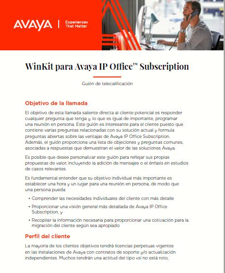 WinKit para Avaya IP Office™ Subscription