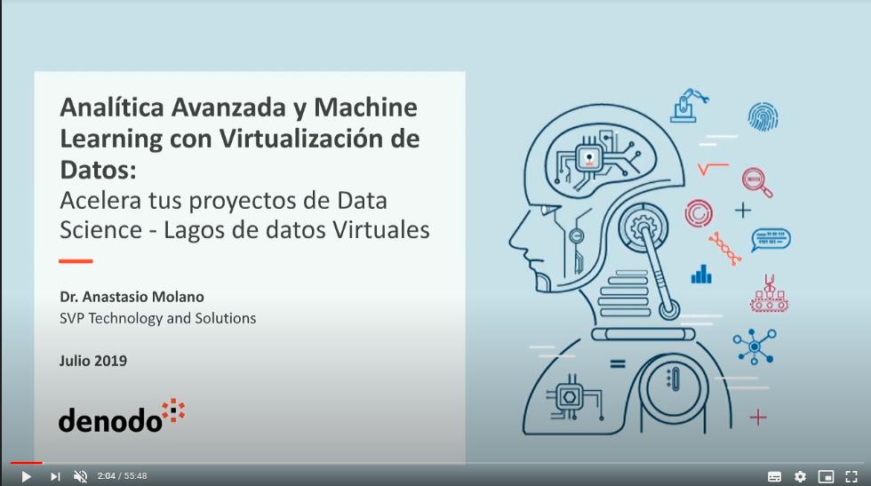 Analítica avanzada y Machine Learning con virtualización de Datos