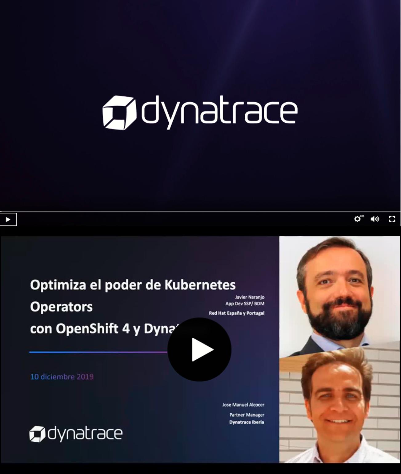 Optimiza el poder de Kubernetes Operators con OpenShift 4 y Dynatrace
