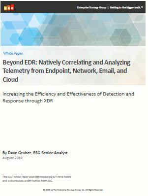 Más allá de EDR: Correlación y análisis nativo de la telemetría desde el punto final, la red, el correo electrónico y la nube
