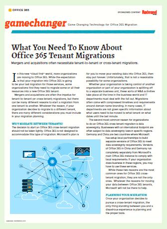 Lo que necesita saber acerca de Office 365 Tenant Migrations