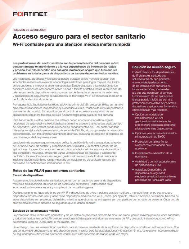 Acceso seguro para el sector sanitario