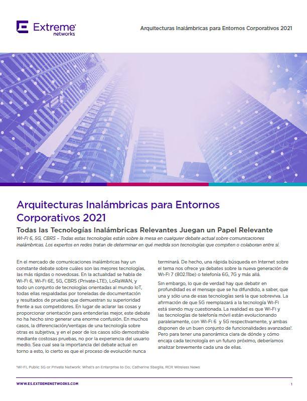 Arquitecturas Inalámbricas para Entornos Corporativos 2021