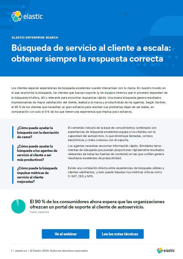 Búsqueda de servicio al cliente a escala: obtener siempre la respuesta correcta