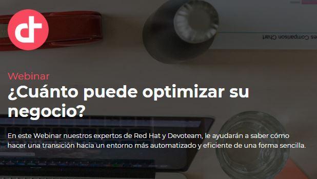 Webinar ¿Cuánto puede optimizar su negocio?