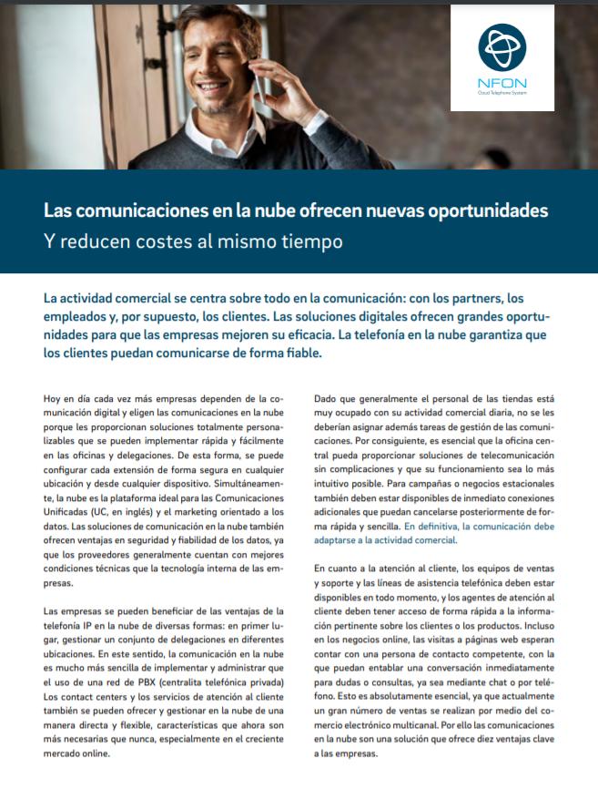 Las comunicaciones en la nube ofrecen nuevas oportunidades y reducen costes al mismo tiempo