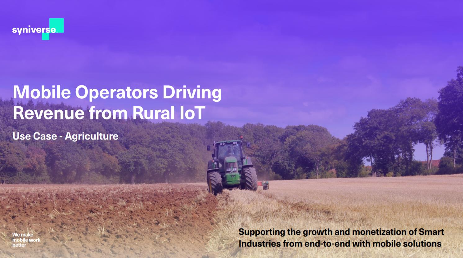 Operadores móviles que generan ingresos de IoT rural