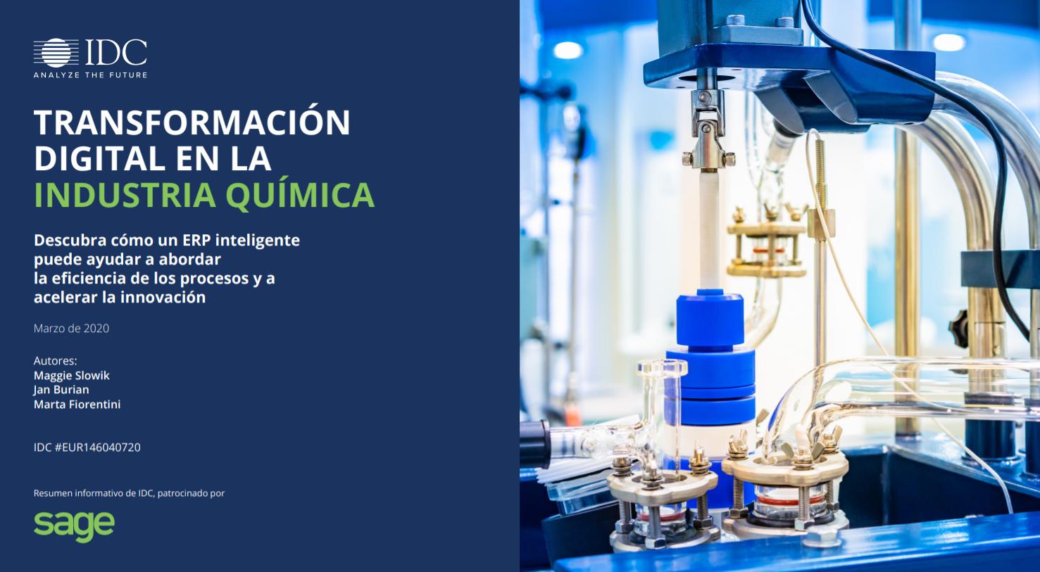 Transformación digital en la industria química.