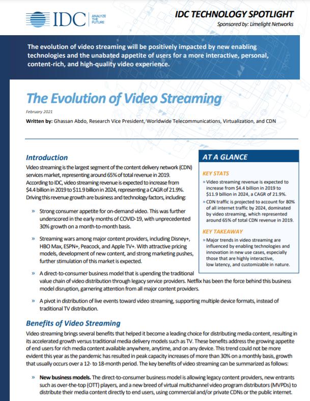 La evolución de la transmisión de video