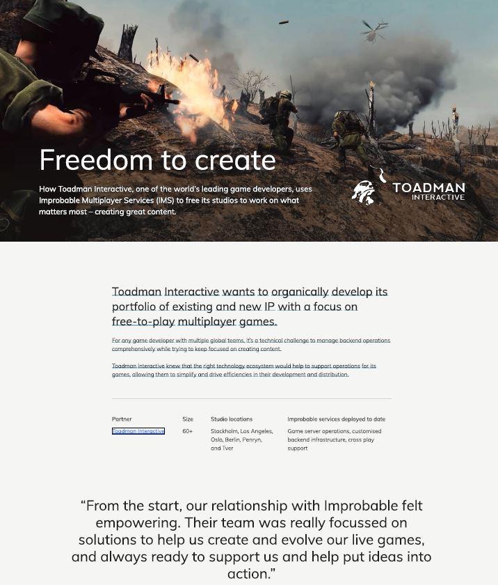 Libertad para crear: Cómo Toadman Interactive utiliza IMS para crear contenidos de calidad