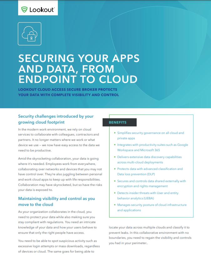 Asegurando sus aplicaciones y datos, de punto final a la nube.